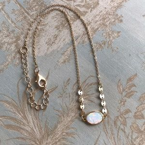 Opal & Gold Dainty Necklace
